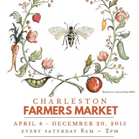 Charleston Farmers Market 2015 <br> Unsigned: $18