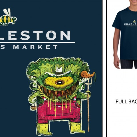 Charleston Farmers Market Youth T-Shirt M <br> $20 pick up only